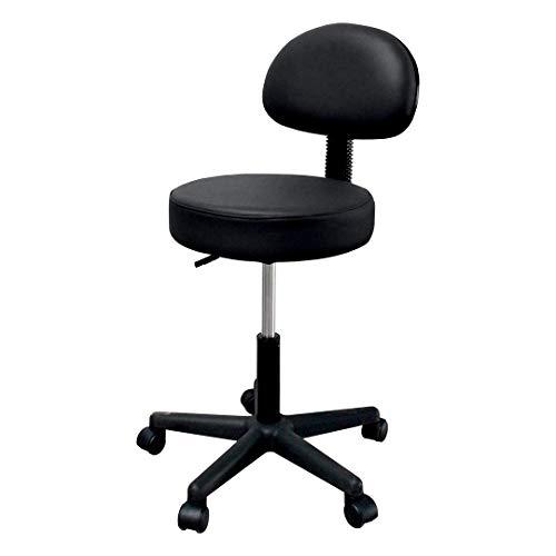 Tabouret esthéticienne Chaise réglable professionnelle pour esthétique de 44 à 58 cm Poids max 135 kg. noir