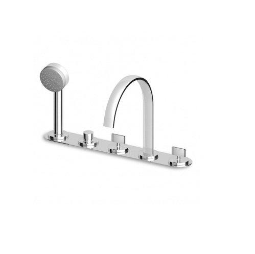 Zucchetti ISYFRESH Batterie pour baignoire avec inverseur 3 Voies zd4447, z94171 italien laiton pour maison et salle de bain, cuisine