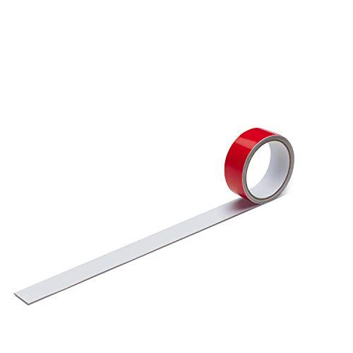 Stahlblech Magnet-Wandleiste als Haftgrund für Magnete I 1 Meter Magnetleiste selbstklebend, zuschneidbar I mag_063