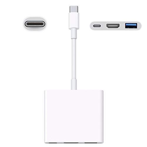 ASHOP Gen uine - Adaptador de Puerto múltiple para Apple USB-C Digital AV MJ1K2AM/A HDMI y USB