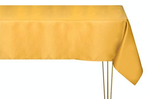 Mantel mágico antimanchas y antiplanchado – Tejido liso, dorado, cuadrado, 140 x 140 cm