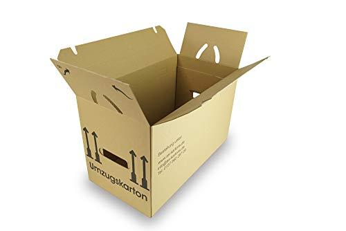 as-kartons Umzugskartons, STÜCKZAHL WÄHLBAR (Profi) STABIL + 2-WELLIG - Umzug Karton Kisten Verpackung Bücher Schachtel Box (100 Stück 2-Wellig)