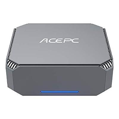 ACEPC Mini PC, 6GB DDR3/ 120GB Rom Intel Celeron J3455 Processor Windows 10 Pro (64-bit) Mini Desktop Computer with 2xHDMI Port, Gigabit Ethernet, Dual Band Wi-Fi, Bluetooth 4.2, 4K HD