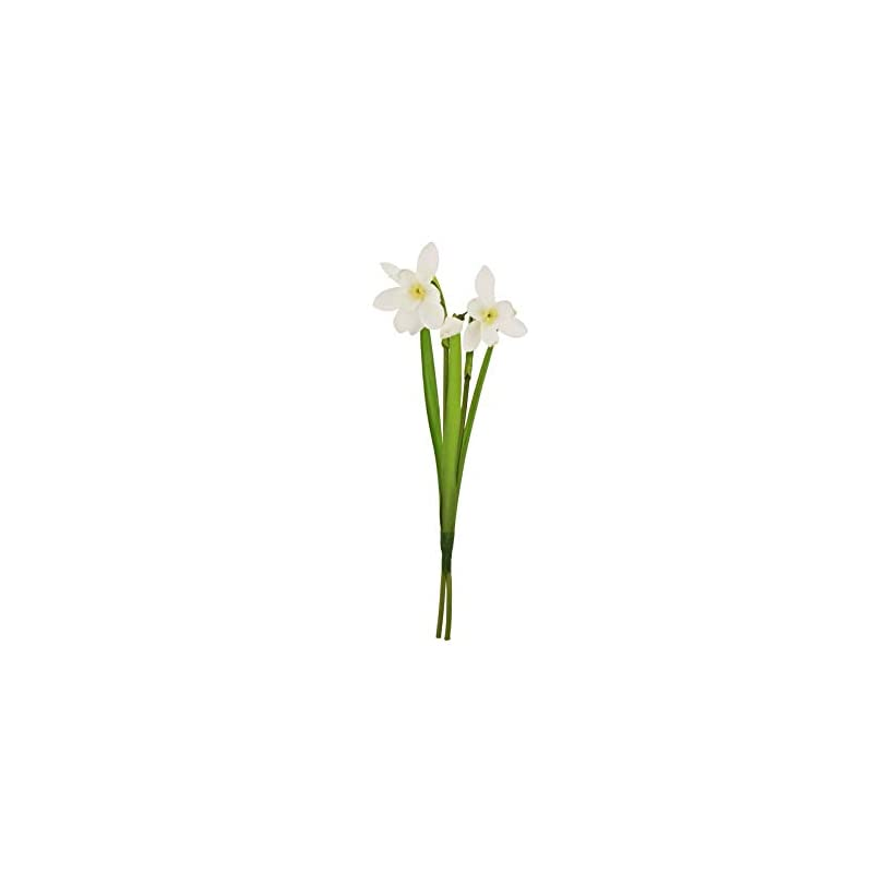 silk flower arrangements crafty capers 24cm snowdrop spray - artificial fabric flowers