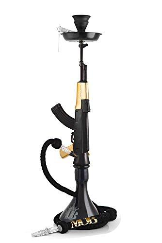 Mob AK-47 Shisha Hookah - Black-Gold