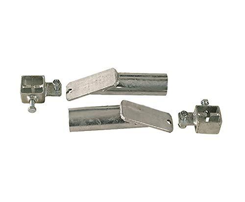 T-palen voor beginner/eind, stabiliteit bij de T-palen hekvanger of einde, diagonale verbinding van T-palen, zorgt voor een veilige stabiliteit in je hek.