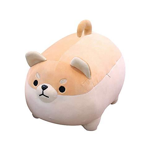 DIYARTS Almohada para Perros Juguete de Peluche Muñeca de Cachorro Suave Gordo Lindo Shiba Inu Anime Relleno Durmiendo Cómodamente Cojines Juguetes Mejores Regalos para Niñas