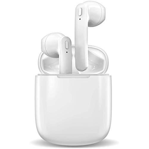 Auriculares Bluetooth, auriculares inalámbricos Bluetooth 5.0, cancelación de ruido, estéreo 3D, impermeables, con cancelación de ruido, compatible con Android/iPhone/Samsung
