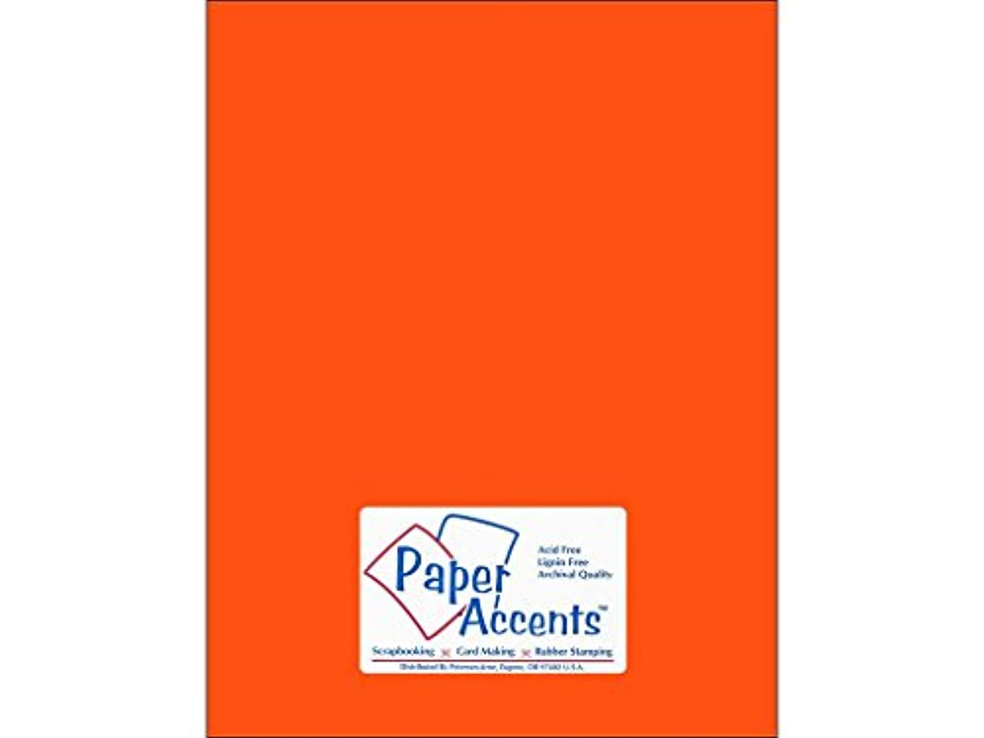 Accent Design Paper Accents Cdstk Smooth 8.5x11 65# Electric Orange