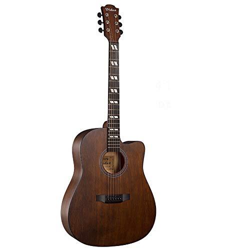 ZIEO Gitarre 41-Zoll-Folk Spruce Nanyang Holz Notch Polierakustikgitarre Akustikgitarre Kits (Color : Natural, Size : 41 inches)