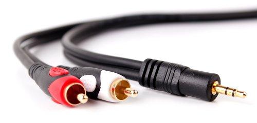 DURAGADGET Cable De Audio para Portátil ASUS K540LA-XX1342T, ASUS K540LA-XX1339T, Lenovo Yoga 920-13IKB - Bañado En Oro