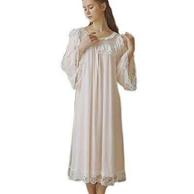 Women's Lace Vintage Chemise Babydoll Nightgown Sleepwear Victorian Loungedress PJS