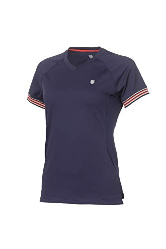 K-Swiss Heritage Camiseta, Mujer, Azul, S