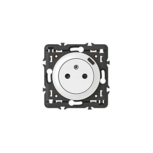 Legrand 068127 Prise Surface Céliane avec Chargeur USB Type-C, Livrée avec Support et Enjoliveur, Finition Blanc
