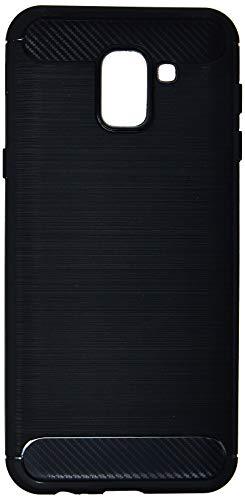 Capa Carbon Fiber para Galaxy J6, iWill, Preta