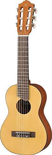 Yamaha GL1 Guitalele - Chitarra in Legno con Dimensioni Ukulele (43,2 cm, scala da 17') - 6 Corde (3 in nylon/ 3 in acciaio), Custodia Inclusa, Da Viaggio, Naturale