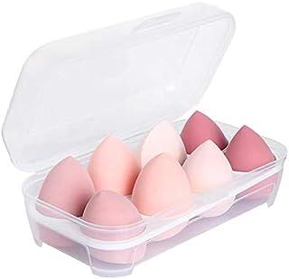 8 Pack Makeup Sponge Set,Makeup Puff Beauty Makeup Egg,Soft Polyester Makeup Blender Sponges,Pink
