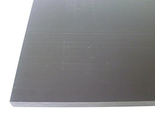 B&T Metall Hart PVC schwarz Platten 10,0 mm stark im Zuschnitt Größe 400 x 500 mm