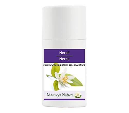 Maitreya Natura Aceite Esencial Orgánico NEROLI, 100% puro y natural, 1ml - aromaterapia, difusor, masaje, cosmético - calidad controlada y certificada, cruelty free, vegano