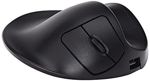 HIPPUS HandShoe Mouse rechts M | optische Maus | ergonomisches Design - Vorbeugung gegen Mausarm/Tennisarm (RSI Syndrom) - besonders armschonend | 2 Tasten