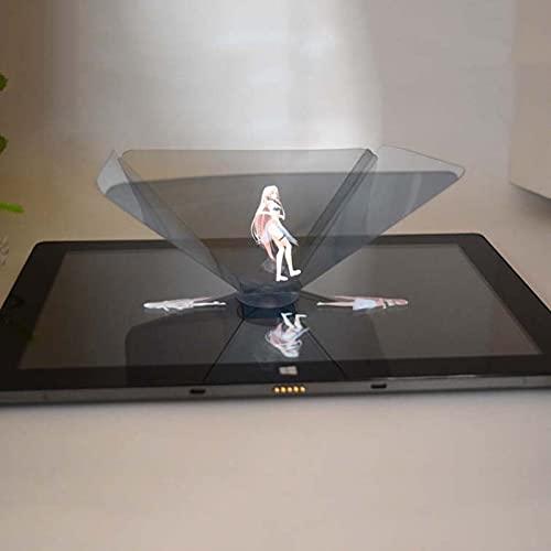 HCNB Proyector de Holograma 5 PCS Mini Proyector 3D Holográfico Proyección Pirámide con Ventosa para Cualquier teléfono Inteligente o Tableta