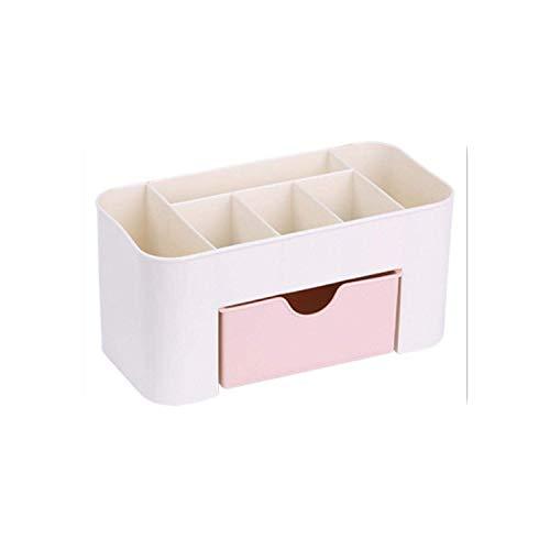 Cosmetic Bag Desktop-Make-up Organizer Plastikaufbewahrungsbehälter kosmetischer Organizer Make-up-Speicher-Fall Kosmetik-Halter Jewelry Box mit Schubladen-pink- HAIKE ( Color : Pink , Size : Size )