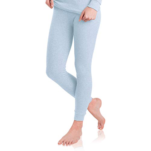 MT Damen Ski- & Thermohose - warme Unterwäsche lang mit Innenfleece - Ice Blue M