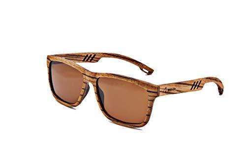 Wood Kiwi: Gafas de sol de madera, polarizadas, UV400, unisex, Super Sloth