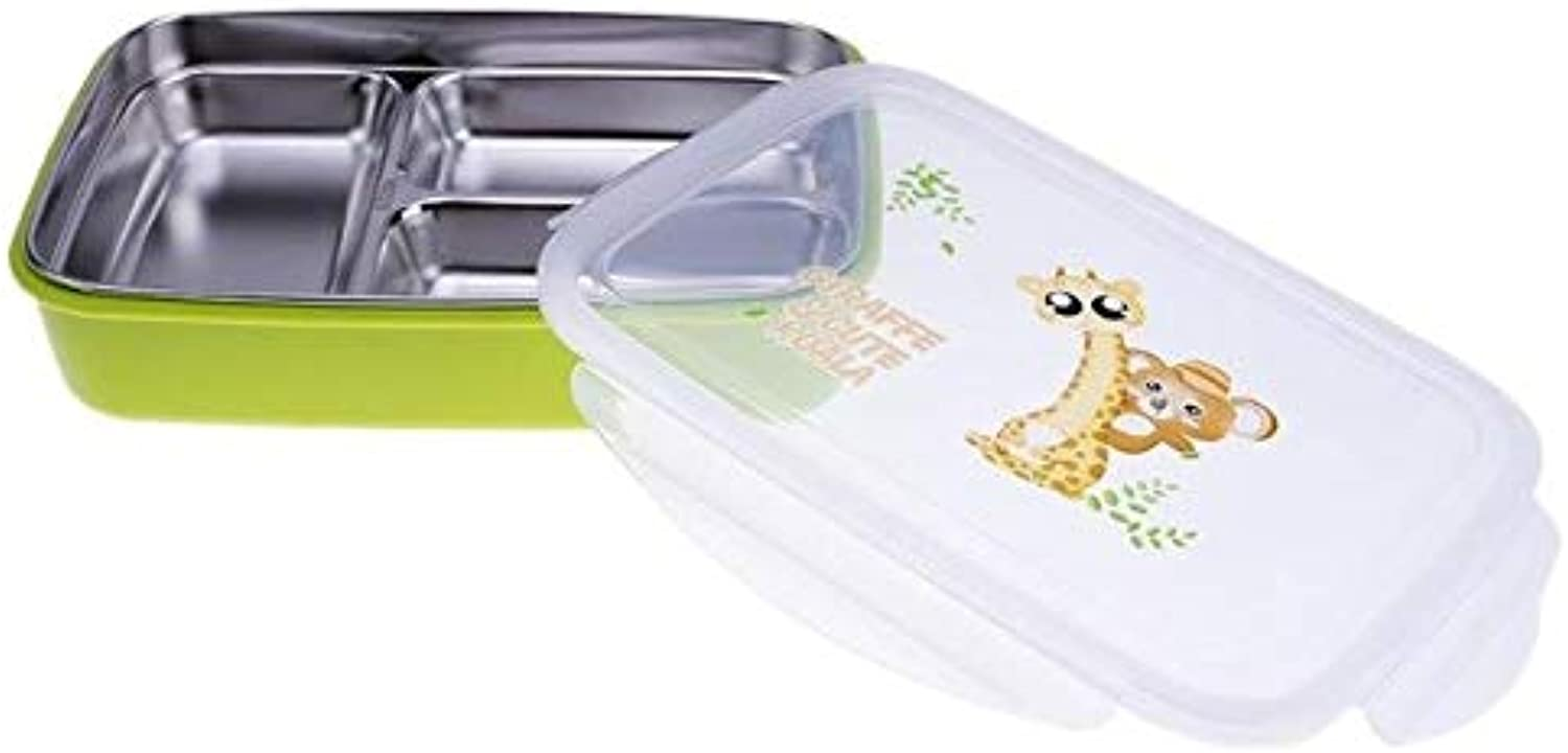 Farmerly Lunch Boxs Stainless Steel Japanese Lunchbox with Compartments Microwave Bento Box for Kids School Picnic Food Container Boxs   Green