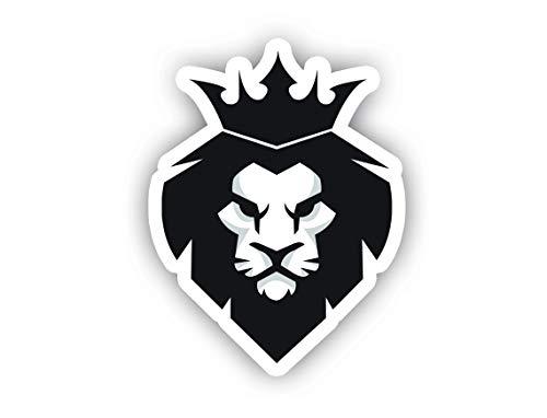 "King Lion Sticker Car Decal Vinyl Sticker - Vinyl Decal - Car, Bumper, Laptop, Decor, Window Vinyl Decal Sticker - (4"" Vinyl Decal)"