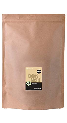 Wohltuer Bio Kokosmehl | Bio Kokos Mehl | Glutenfrei, nährstoffreich & vegan | vielseitiges Lebensmittel in geprüfter Bio-Qualität (2000g)