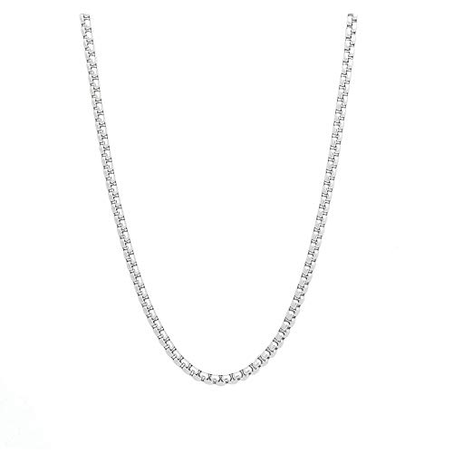 3MM Square Rolo RVS Ketting Ketting Sieraden voor Mannen Vrouwen, 16-30inches