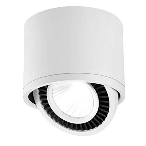 Budbuddy 15W LED Spotbalken Schwenkbar Aufbaustrahler Deckenlampe weiß Aufbauspot Deckenaufbauleuchte für Küche Badezimmer Flur wohnzimmer 6000K Aluminium