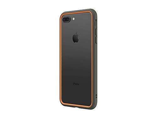 RhinoShield Funda Bumper Compatible con [iPhone 7 Plus/iPhone 8 Plus] | CrashGuard NX - Diseño con Tecnología de Absorción de Golpes [Resistente a Impactos de más de 3.5 Metros] - Grafito/Naranja