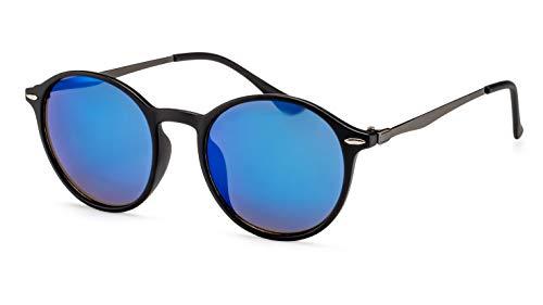 Filtral Runde Sonnenbrille/Blau verspiegelte Metall-Sonnenbrille für Damen & Herren F3001099