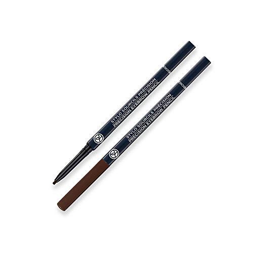 Yves Rocher COULEURS NATURE Augenbrauenstift Präzision - Ultra Brun, Präzise nachgezeichnete Augenbrauen den ganzen Tag lang, 1x Stift mit Bürstchen 0.1 g