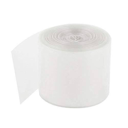 Adanse - Funda termoretractable de PVC de 70 mm para película retráctil, 4 x 18650 5 m, transparente
