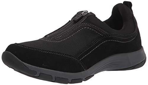 Easy Spirit womens Cave8 Sneaker, Black, 8 Wide US