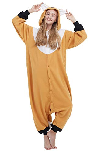 Pyjama Licorne Kigurumi Adulte Animal Cosplay Costume Sleepwear Combinaison Jumpsuit Renard Orange L