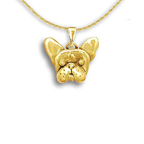 14k Gold French Bulldog Pendant by The Magic Zoo