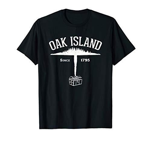 Eiche Insel Insel und Treasure Geschenk T-Shirt–Weiß