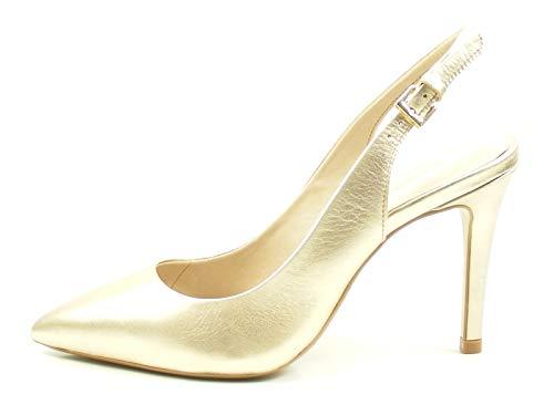 Bronx Sling Pumps Cote 75095-A Metallic High Heels Stiletto, Schuhgröße:37 EU, Farbe:Gold
