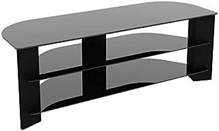 AVF 'Varano' Corner TV Stand 1300 with Black Glass/Black Frame