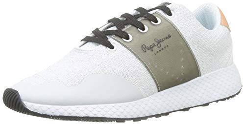 Pepe Jeans London Herren KOKO SAND19 Sneaker, Weiß (800white 800), 39 EU