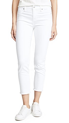 7 For All Mankind Womens Jeans Roxanne Ankle Pant, White, 31