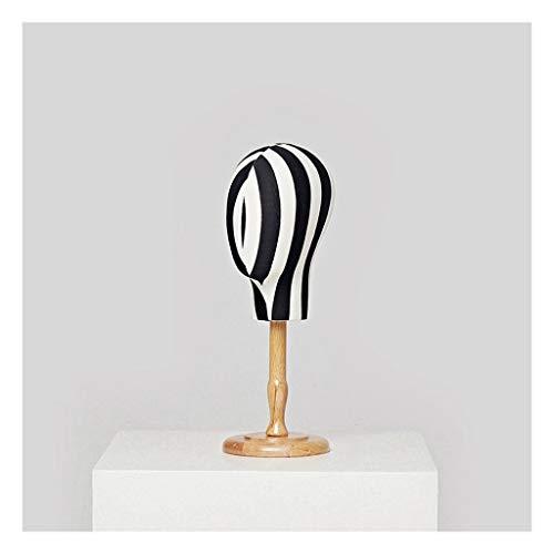 Soporte de exhibición de la joyería Maniquí Cabeza Collar de madera de exhibición del escaparate de la joyería del sombrero Headwear Viendo -15,4 '/ 18,5' Soporte de exhibición de collar independiente
