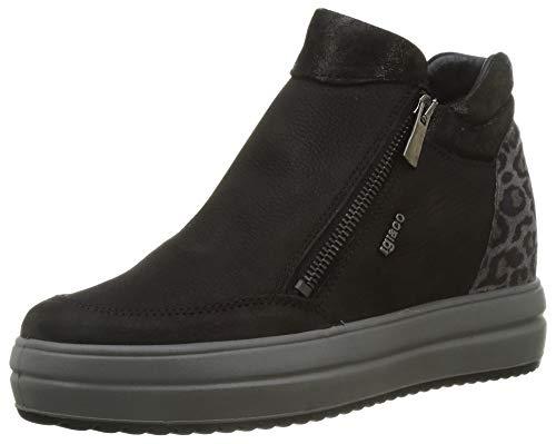 IGI&CO DHY 61557, Pantofole Donna, Nero, 37 EU