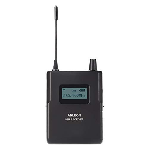 Garsent Sistema de Monitor de oído, Monitor de Escenario inalámbrico de 670-680 MHz con Antena de Alta sensibilidad Receptor de Sonido Claro Monitor de Escenario.