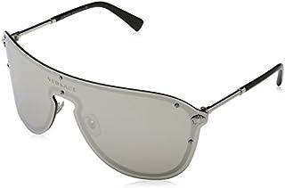 Versace Women's Mirrored Shield Sunglasses