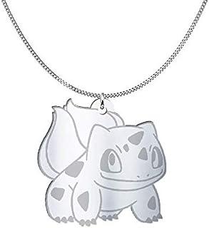 Collana Pokémon Bulbasaur, Sterling Silver o placcato oro 18K, gioiello regalo amicizia, migliori amici